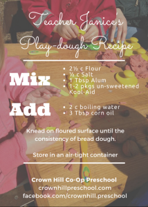 Teacher Janice's Play-dough Recipe